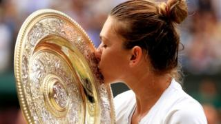 Simona Halep and trophy