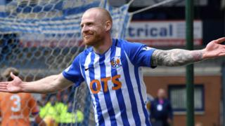 Kilmarnock's Chris Burke celebrates