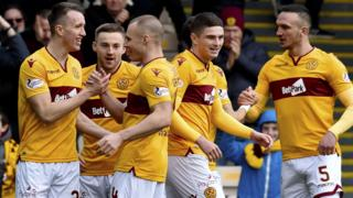 Motherwell take the lead