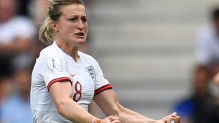England's Ellen White celebrates scoring against Scotland at the 2019 Women's World Cup
