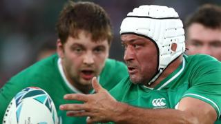 Iain Henderson and Rory Best in action in Sunday's World Cup win over Scotland