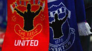 Everton and Man Utd scarf