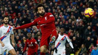 Mo Salah scores