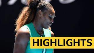 Serena Williams looks dejected