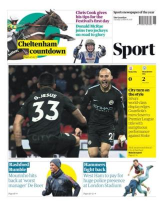 The Guardian back page 13/3/18