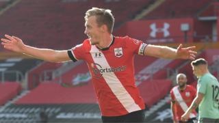 James Ward-Prowse celebrates scoring for Southampton against Everton