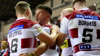 Wigan Warriors celebrate