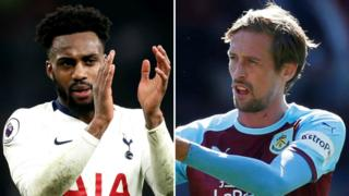 Danny Rose and Peter Crouch