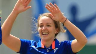 England bowler Kate Cross