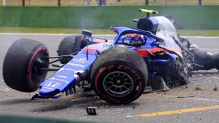 Alex Albon crash
