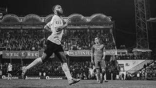 Raheem Sterling playing for England in Montenegro