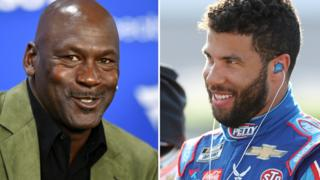 Michael Jordan (left) and Bubba Wallace