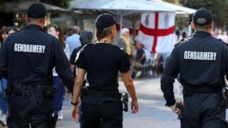 Bulgarian police on patrol before Bulgaria v England Euro 2020 qualifier