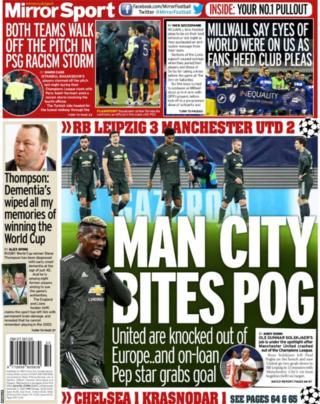 Daily Mirror arka sayfa