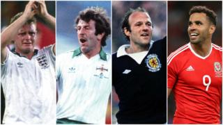 Paul Gascoigne, Gerry Armstrong, Archie Gemmill and Hal Robson-Kanu