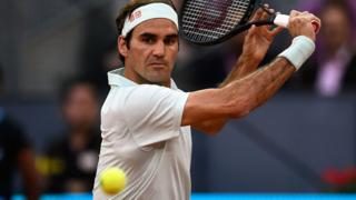Roger Federer at the Madrid Open