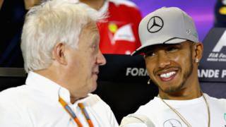 Lewis Hamilton and Charlie Whiting