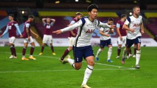 Tottenham's Son Heung-Min scores