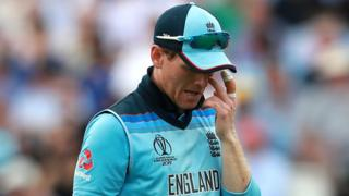 Eoin Morgan looks disappointed