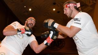 Trainer Ben Davison preparing Tyson Fury for his bout against Otto Wallin in Las Vegas this weekend