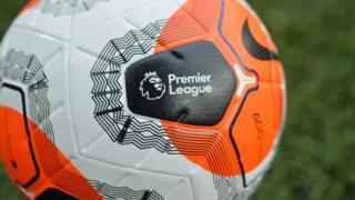 Premier League logo on ball