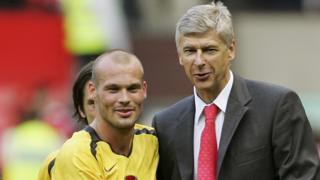 Arsene Wenger & Freddie Ljungberg