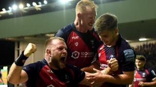 Bristol Bears celebrate.