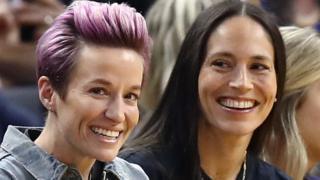 World Cup winner Megan Rapinoe (left) and WNBA star Sue Bird