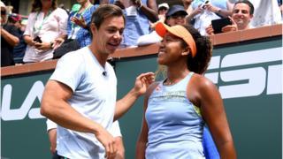 Tennis coach Sascha Bajin and Naomi Osaka