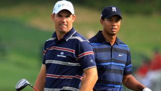 Padraig Harrington and Tiger Woods