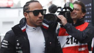 Lewis Hamilton during pre-season testing in Barcelona