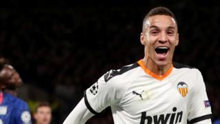 Rodrigo celebrates scoring against Chelsea