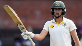 Australia's Ellyse Perry makes 50 against England