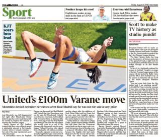 Times back page on Friday