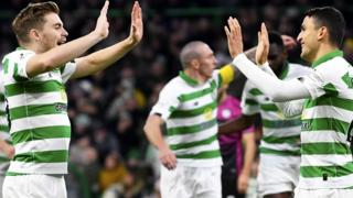 James Forrest and Mohamed Elyounoussi