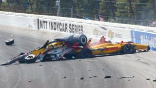 Sunday's crash at Pocono