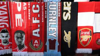 Arsenal Burnley scarf