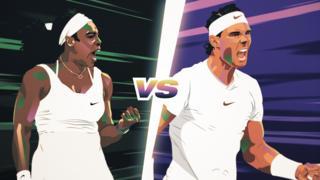 Most stylish stumble: Serena vs. Nadal