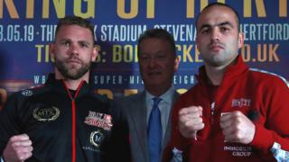 Billy Joe Saunders and Shefat Isufi