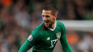 "Republic of Ireland""s Conor Hourihane scores"