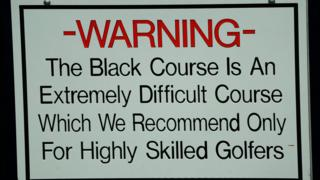A sign at Bethpage Black