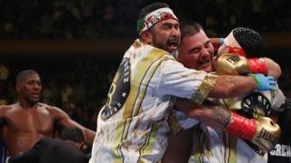 Andy Ruiz Jr celebrates win over Anthony Joshua