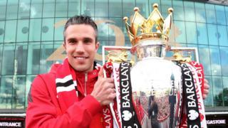 Robin van Persie with the Premier League trophy