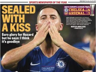 Daily Mail back page: Sealed with a kiss