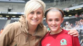 Georgia Stanway (right) with Steph Houghton
