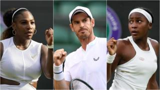 Serena Williams, Andy Murray and Coco Gauff