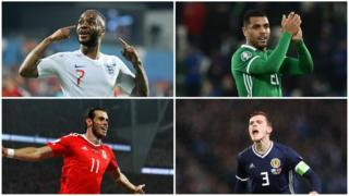 Raheem Sterling, Josh Magennis, Gareth Bale, Andy Robertson