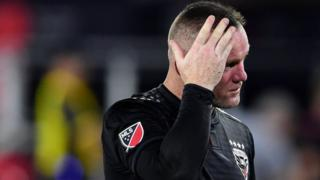 Wayne Rooney dejected after DC United defeat