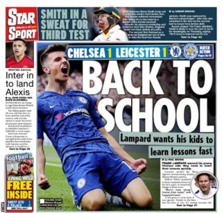 Monday's Star Sport back page
