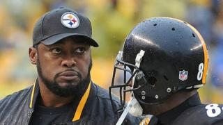 Mike Tomlin and Antonio Brown